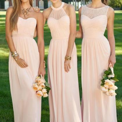 Custom Pink Bridesmaid Dresses, Bri..