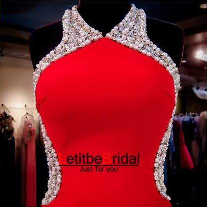 Red Prom Dress,Short Prom Dress,Str..