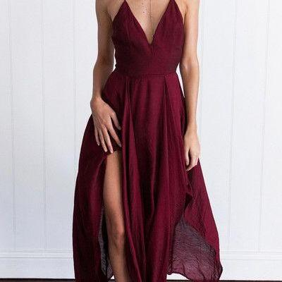Prom Dress,Prom Gown,Burgundy Prom ..