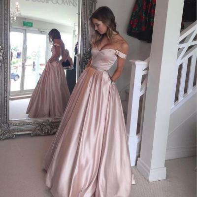 Prom Dresses, Prom Gown,Champagne Prom Dress,Prom Dress Off Shoulder,Prom dress Long,Formal Dress,Evening Dress Custom Plus size RT0086