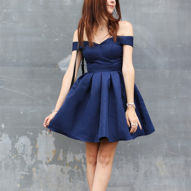 1c72a3ca523 Navy Homecoming Dress