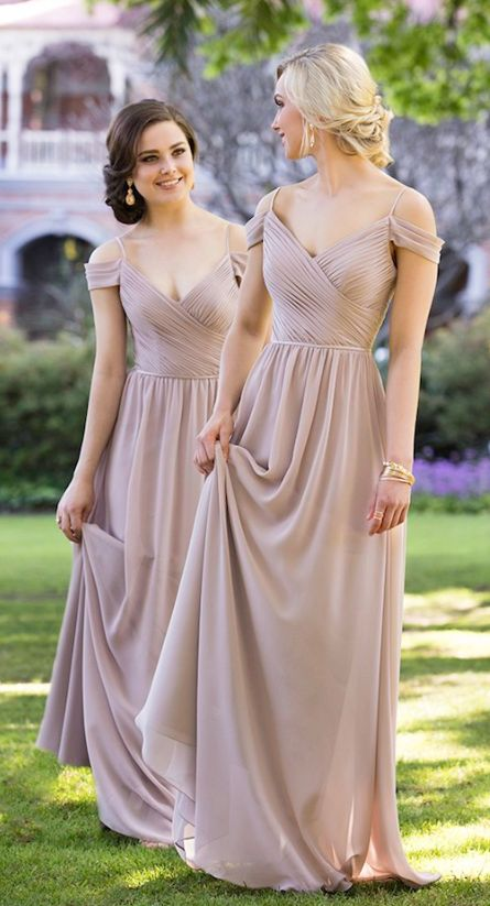 Long Champagne Bridesmaid Dresses Cheap,Bridesmaid Gowns, Maid Of ...