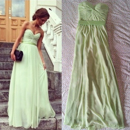 Cheap A line Sweetheart Ruched Lime Green Prom Dresses Gowns Long 2016,Formal Evening Dresses,Homecoming Graduation Cocktail Party Dresses, Custom Plus size