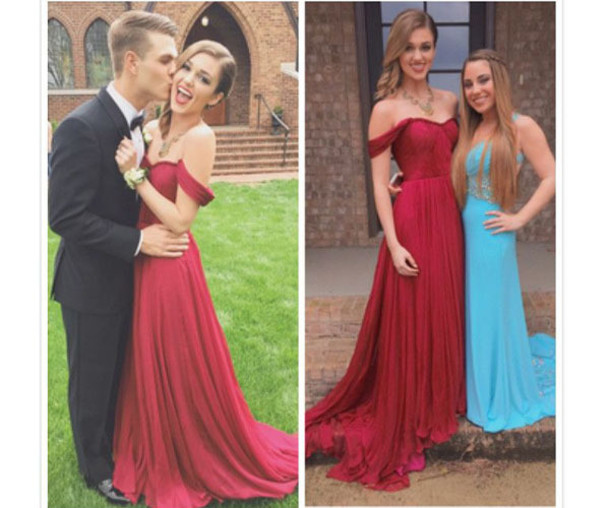 Custom Sweetheart Off the Shoulder Burgundy Prom Dresses, Elegant Chiffon Prom Gowns, Long Prom Dress, Prom Dress 2016, Affordable Prom Dress, Junior Prom Dress,Burgundy Formal Evening Dresses Gowns, Party Dresses, Plus size