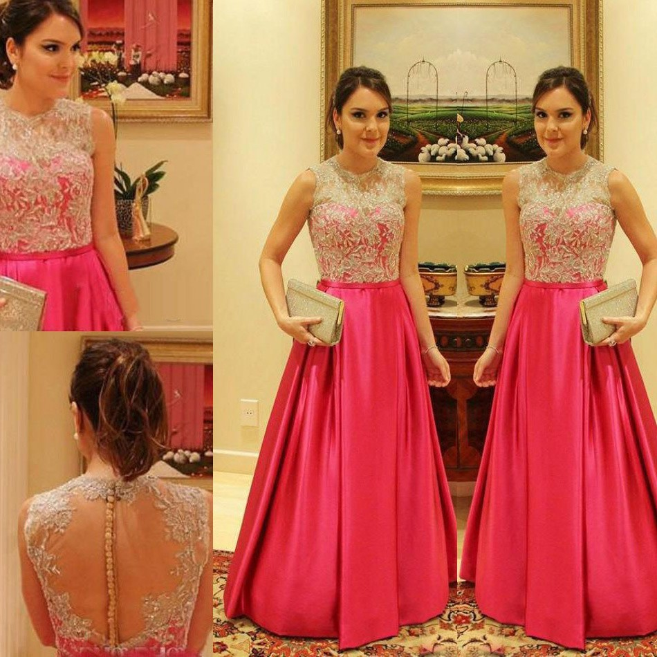 hot fuchsia prom dress