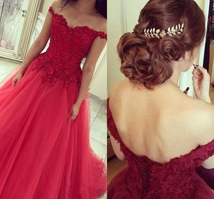 638d978f5ba Prom Dress,Off the Shoulder Prom Dress,Lace Prom Dress,Red Prom Dress,A-line  Prom Dress,Evening Dress,Tulle Prom Dress