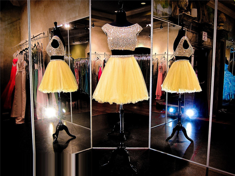 2 Piece Prom Dress,Short Prom Dress,Junior Prom Dress,Cheap Prom Dress,Prom Dress 2016,Yellow Prom Dress, Sexy Prom Dress, Yellow Homecoming Dress, 8th Grade Prom Dress,Holiday Dress,Yellow Evening Dress, Short Evening Dress,Formal Dress, 2 Piece Homecoming Dresses, Graduation Dress, Cocktail Dress, Party Dress