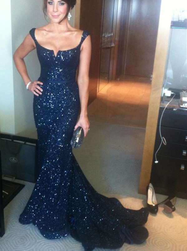 537f7c6ad Navy Blue Prom Dress, Sequins Prom Dress, Mermaid Prom Dress, Long Prom  Dresses, Sexy Prom Dress,Backless Prom Dress. Prom Gown, Evening Gown,  Sequins ...