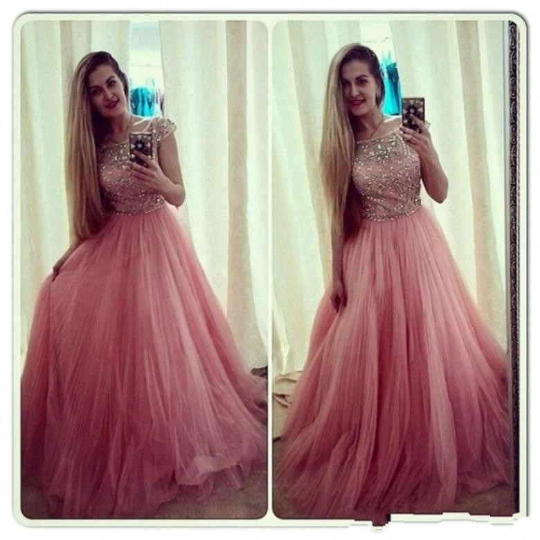 Prom Dresses,Pink Evening Gowns,Formal Dresses, Pink Prom Gown ...