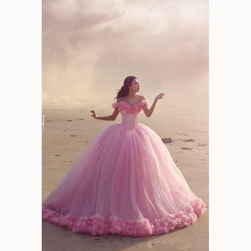 Prom Dresses Pink Quinceanera Dress Wedding Gown Pink Prom Gown