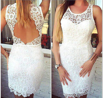 Short Lace Prom Dresses,Prom Gown White, Lace Evening Dress,Short ...