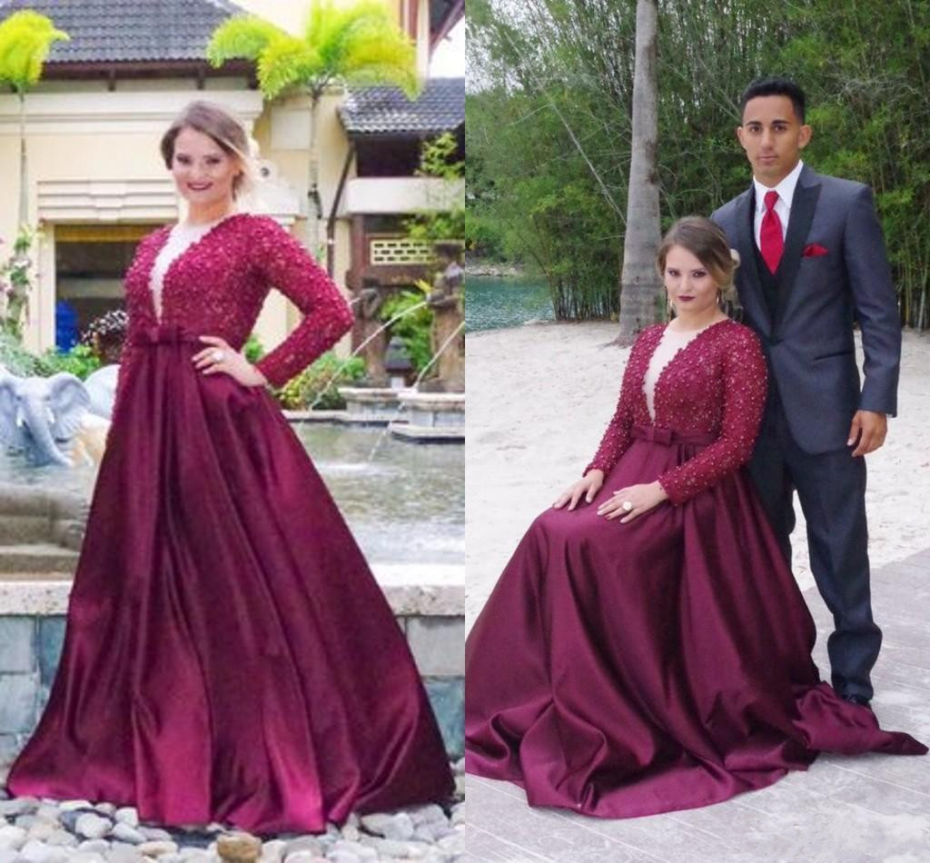 Plus Size Prom Dresses,Purple Prom Gown,Prom Dresses Long Sleeves ...