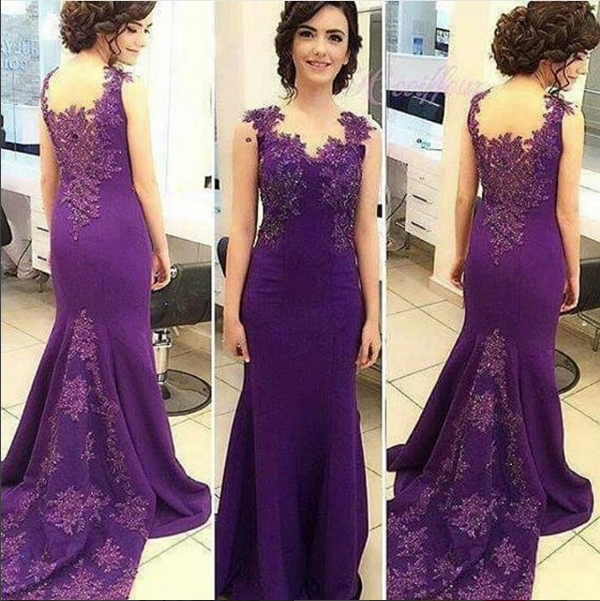 Prom Dress Purple,Mermaid Prom Dress,Prom Dress Spandex,Prom Gown ...
