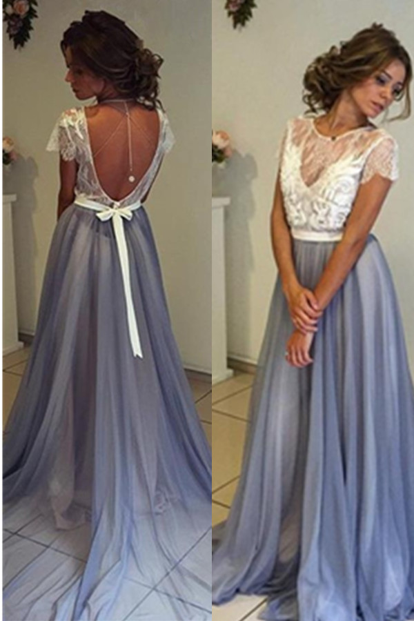 Prom Dress Laceprom Dress Short Sleevesprom Dress Longprom Gown