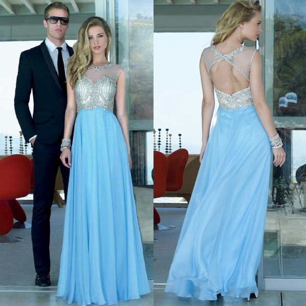 f2b15c784 Prom Dresses, Prom Gown,Open Back Prom Dress,Long Prom Dress,Light ...