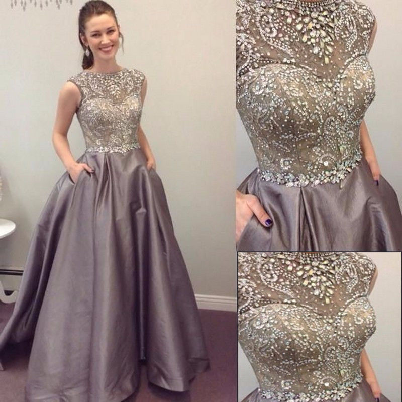 0a8f5ca47db8 Heavy Beaded Silver Prom Dress Gown Long,Formal Dress,Cocktail Dress,Evening  Dress,Party Dress,Graduaiton Dress Cheap