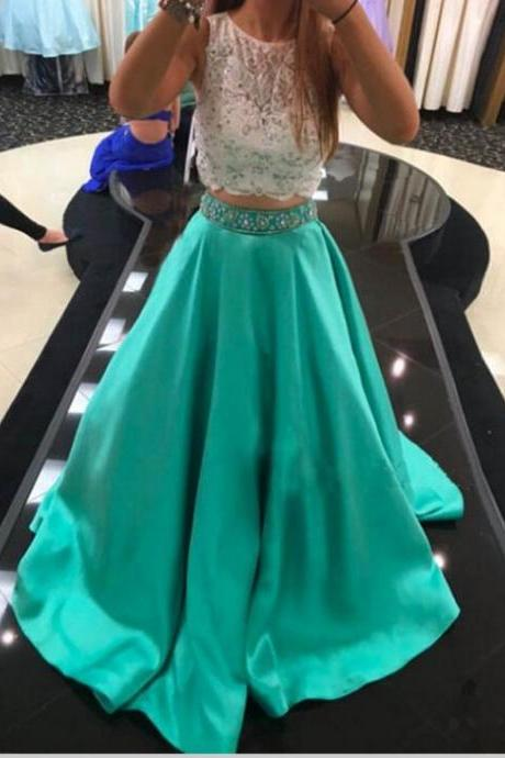 Mint Green Prom Dress,Prom Dress Cheap,Prom Dress Mint,Prom Gown,Junior Prom Dress,Prom Dress Two Piece,Evening Dress,Cocktail Party Dress,Formal Dress