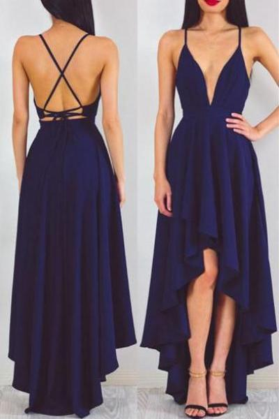 Prom Dress Cheap,Prom Dress High Low,Royal Bue Prom Dress,Prom Gown,Junior Prom Dress,Sexy Prom Dress,Evening Dress,Cocktail Party Dress,Formal Dress