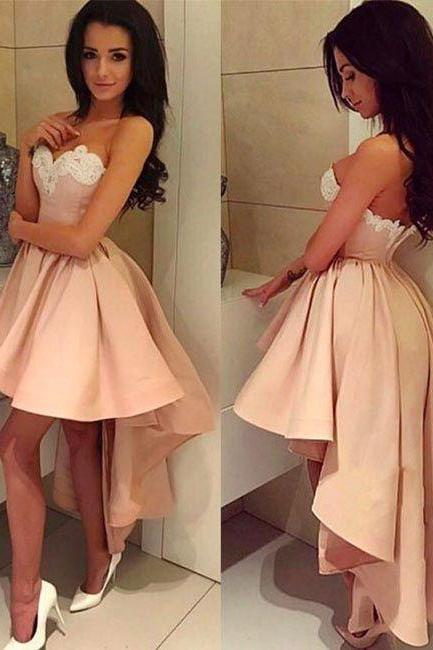 Homecoming Dress,Prom Dress High Low,Graduation Dress,Prom Dress Blush Pink,Homecoming Dress High Low,Cheap Prom Dress,Prom Gown,Junior Prom Dress,Senior Prom Dress,Evening Dress,Cocktail Party Dress,Formal Dress