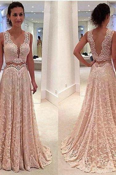 Lace Prom Dress,Prom Dress Two Piece,Graduation Dress,Prom Dress Blush Pink,,Cheap Prom Dress,Prom Gown,Junior Prom Dress,Senior Prom Dress,Lace Evening Dress,Cocktail Party Dress,Formal Dress