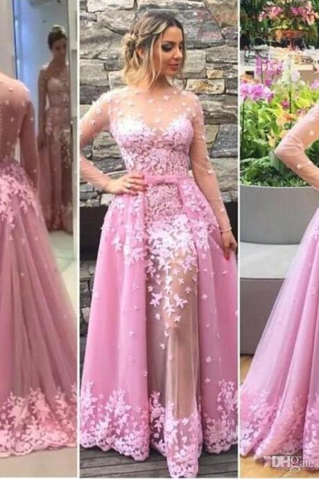 Hot Pink Prom Dress,Prom Dress Long Sleeves,Graduation Dress,Illusion Prom Dress,,Cheap Prom Dress,Prom Gown,Junior Prom Dress,Senior Prom Dress,Evening Dress,Cocktail Party Dress,Formal Dress,Celebrity Dress