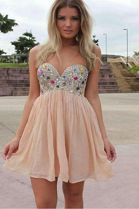 Baby Pink Prom Dress,Prom Dress Short,Homecoming Dress,Sexy Prom Dress,Cheap Prom Dress,Prom Gown,Junior Prom Dress,Senior Prom Dress,Evening Dress,Cocktail Party Dress,Formal Dress,Celebrity Dress