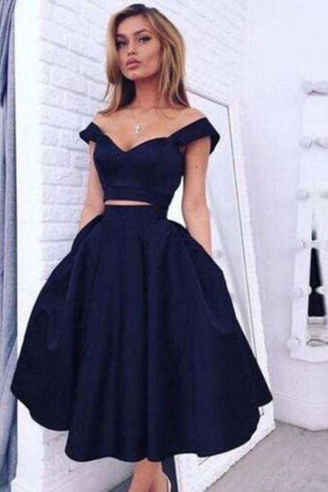Homecoming Dress,Ball Gown,Navy Blue Prom Dress,Prom Dress Short,Homecoming Gown,Lace Prom Dress,Cheap Prom Dress two piece,Prom Gown,Junior Prom Dress,Senior Prom Dress,Evening Dress,Cocktail Party Dress,Formal Dress,Celebrity Dress