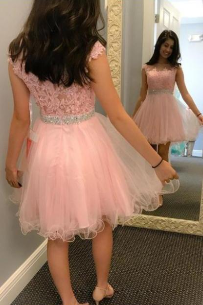 Homecoming Dress Pink,Ball Gown,Pink Prom Dress,Prom Dress Short,Homecoming Gown,Lace Prom Dress,Cheap Prom Dress,Prom Gown,Junior Prom Dress,Senior Prom Dress,Evening Dress,Cocktail Party Dress,Formal Dress,Celebrity Dress
