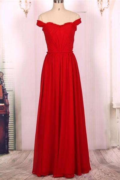2016 New Cheap A line Off the Shoulder Sweetheart Wine Red Burgundy Chiffon Long Prom Dresses Gowns, Formal Evening Dresses Gowns, Homecoming Graduation Cocktail Party Dresses,Custom Plus size