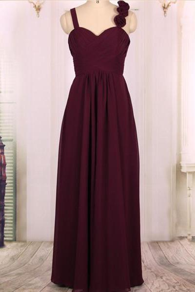 Cheap A line Empire Waist Sweetheart Long Elegant Grape Purple Bridesmaid Dresses Gowns 2016,Formal Evening Dresses Gowns, Wedding Party Dresses,Custom Plus size