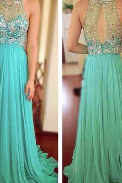 Custom Cheap Heavy Beaded Bling Bling Long Elegant Tulle Mint Green Prom Dresses Gowns 2016 , Formal Evening Dresses Gowns, Homecoming Graduation Cocktail Party Dresses, Holiday Dresses, Plus size