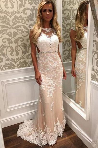 Custom Mermaid Prom Dresses, Cheap Prom Dress, Lace Prom Dress,Long Prom Dress 2016, Affordable Prom Dress, Junior Prom Dress, Formal Evening Dresses Gowns, Party Dresses, Plus size