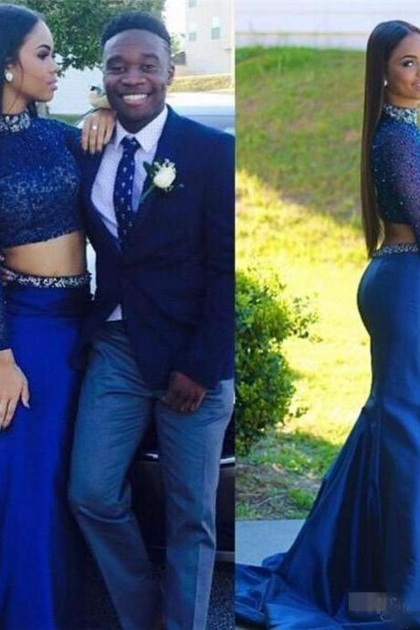 Prom dress 2 piece navy