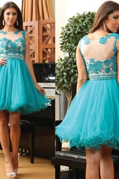 Custom Turquoise Prom Dress, Short Prom Dresses,Cheap Prom Dress, Lace Prom Dress, Prom Gowns, Prom Dress Short,Homecoming Dress, Homecoming Dresses On Sale, Cocktail Dress, Party Dress