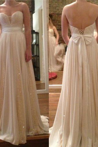 Custom Sweetheart Champagne Prom Dress with Sequins,High Quality Prom Dress,Elegant Prom Dress,Long Prom Dress,Champagne Evening Dress, Cheap Evening Dress, Formal Dress, Homecoming Dresses, Graduation Dress, Party Dress