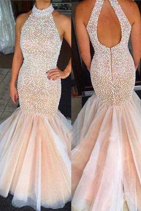 Sparkle Prom Dress, Heavy Beaded Prom Dress, Tulle Prom Dress,Mermaid Prom Dress,Champagne Prom Dress,Prom Gown,Champagne Evening Dress, Mermaid Evening Dress, Tulle Evening Dress, Sparky Evening Dress,Formal Dress, Homecoming Dresses, Graduation Dress, Party Dress
