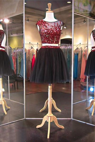2 Piece Homecoming Dresses, Homecoming Dress, Black Homecoming Dresses, Burgundy Homecoming Dresses, Homecoming Dresses 2016, Short Homecoming Dresses, 8th Grade Prom Dress, Mini Homecoming Dress, Sexy Homecoming Dress, Cheap Homecoming Dresses, 2 Piece Prom Dress,Short Prom Dresses, Party Dress, Short Evening Dress, Cocktail Dress, Graduation Dress, Ball Gown