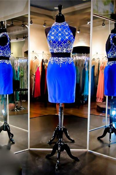 2 Piece Prom Dress,Royal Blue Prom Dress,Short Prom Dress,Cheap Prom Dress,Prom Dress 2016,8th Grade Prom Dress,Royal Blue Evening Dress, Short Evening Dress,Formal Dress, Homecoming Dresses, Graduation Dress, Cocktail Dress, Party Dress