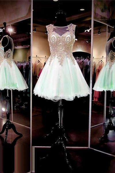 Short Prom Dress,Mint Green Prom Dress,Cheap Prom Dress,Prom Dress 2016,8th Grade Prom Dress,Mint Green Evening Dress, Short Evening Dress,Formal Dress, Homecoming Dresses, Graduation Dress, Cocktail Dress, Party Dress