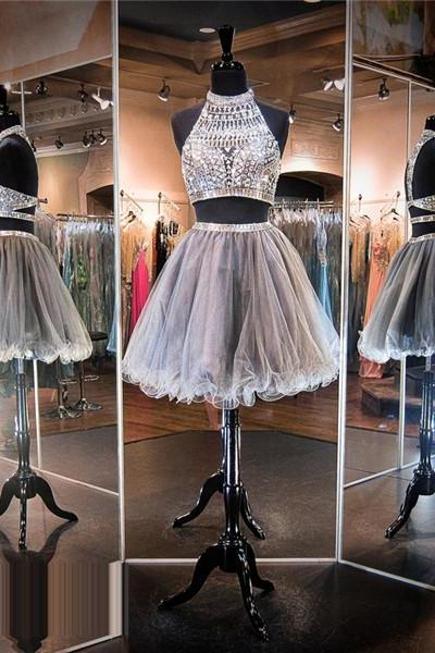 Silver Prom Dress,Short Prom Dress,Junior Prom Dress,Cheap Prom Dress,Prom Dress 2016,2 Piece Prom Dress, Sexy Prom Dress, Cheap Homecoming Dress, 8th Grade Prom Dress,Holiday Dress,Silver Evening Dress, Short Evening Dress,Formal Dress, 2 Piece Homecoming Dresses, Graduation Dress, Cocktail Dress, Party Dress