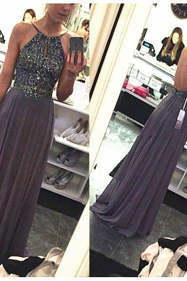 Grey Prom Dresses,Prom Gown Gray, Backless Evening Dress, Evening Gown Sexy, Cheap Formal Dress,Party Dress, Graduation Dress, Maxi Dress, Plus size