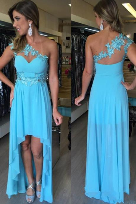 High Low Prom Dress,Prom Dress One Shoulder,Prom Gown,Prom Dress Blue,Cheap Prom Dress,Sales Prom Dress,Homecoming Dress, 8th Grade Prom Dress,Holiday Dress,Evening Dress,High Low Evening Dress,Blue Evening Dress,Formal Dress,High Low Homecoming Dresses, Graduation Dress, Cocktail Dress, Party Dress