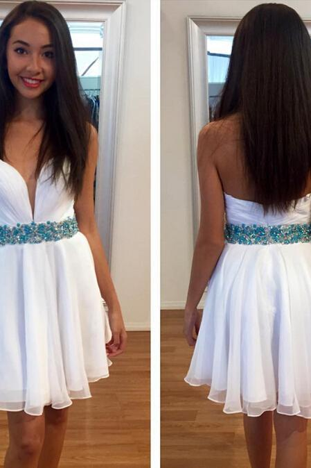 Custom Cheap Sweetheart White Prom Dresses Gowns Short Evening Dresses Party Dresses Cocktail Dress Homecoming Dresses Plus Size