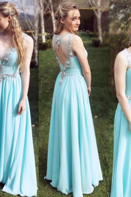 Prom Dresses,Prom Gown,Blue Prom Dress,Prom Dress See Through,Prom Dress Long,Formal Dress,Evening Dress Custom Plus size RT0090