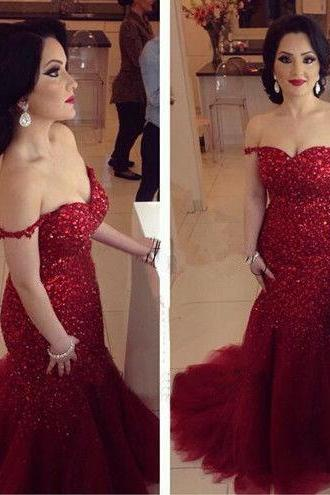 Mermaid Prom Dresses,Prom Gown,Sequins Prom Dress,Red Prom Dress, Affordable Prom Dress,Junior Prom Dress,Formal Dress,Evening Dresses,Party Dresses, Custom Plus size