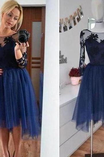 Prom Dress,Navy Prom Dress, Short Prom Dress,Prom Gown,Prom Dress Long Sleeves,Prom Dress Cheap,Navy Homecoming Dress,Affordable Prom Dress,Junior Prom Dress,Formal Dress,Evening Dresses,Party Dress,Custom Plus size