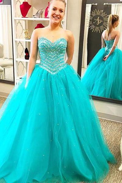 Prom Dress,Aqua Prom Dress, Prom Gown, Quinceanera Dress,Heavy Beaded Prom Dress,Long Prom Dress,Prom Dress Cheap,Affordable Prom Dress,Junior Prom Dress,Formal Dress,Evening Dresses,Party Dress,Custom Plus size