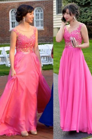 Prom Dress,Hot Pink Prom Dress,Lace Prom Dress,Prom Gown,Prom Dress Long,Prom Dress Cheap,Affordable Prom Dress,Junior Prom Dress,Formal Dress,Evening Dresses,Party Dress,Custom Plus size