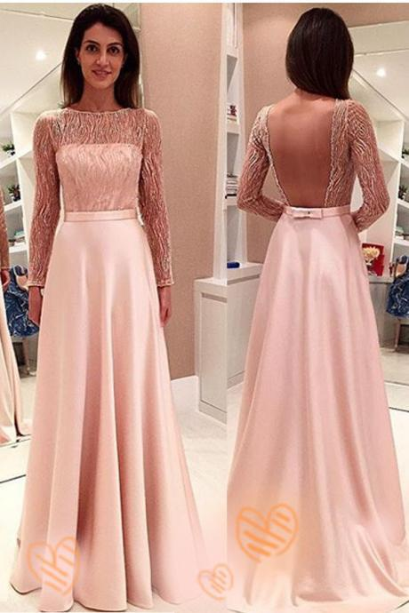 Prom Dress,Prom Gown,Pink Prom Dress,Prom Dress Long Sleeves,Prom Dress Backless,Homecoming Dress,Cheap Prom Dress,Affordable Prom Dress,Formal Dress,Evening Dress,Custom Plus size