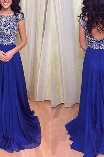 Heavy Beaded Prom Dress,Prom Gown,Royal Blue Prom Dress,Long Prom Dress,Prom Dress Open Back,Affordable Prom Dress,Prom Dress Cheap,Formal Dress,Evening Dress,Custom Plus size